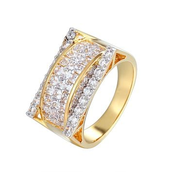 Designer 3D Solitaite Men's Iced Out Baguette Ring