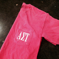 Custom Greek Sorority Letter Comfort Color T-Shirt