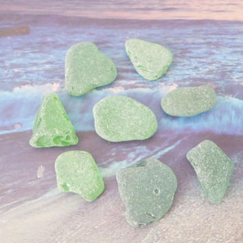 green sea glass italian kelly green mermaid tears mediterranean beach wedding decor craft supplies jewelry mosaic tiles lasoffittadiste