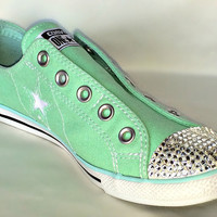 Custom Converse with Swarovski Crystal detail