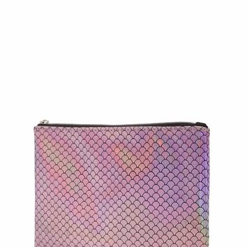 Holographic Mermaid Scale Makeup Pouch