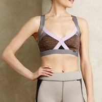 Crossed Colorblock Bra by VPL Lavender