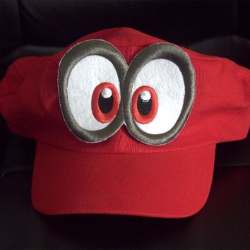 Super Mario party nes switch Anime Game  Plumber Odyssey Lovely Hat Adult Kids Cosplay Cap cotton Handmade caps AT_80_8