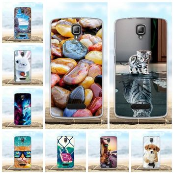 4.5'' Cover For Lenovo A2010 Case Soft Silicone TPU Fundas Coque For Lenovo A2010 A 2010 Phone Cases 3D Cute Animal Bags Shell