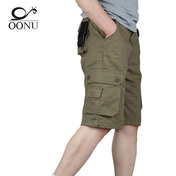 OONU 2017 Hot Summer Men's Army Cargo Work Casual Bermuda Men Shorts Fashion Joggers Overall military Trousers Plus size 29-46