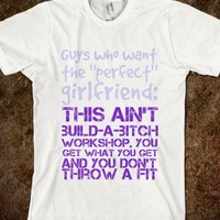 Build-a-bitch Workshop Tee-Unisex White T-Shirt