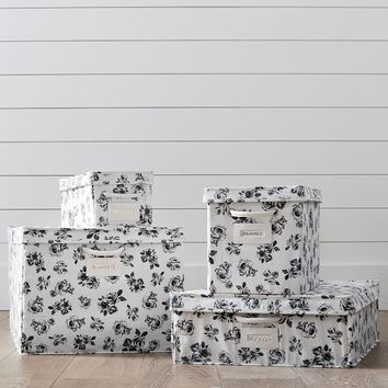 The Emily & Meritt Petit Rose Canvas Bins