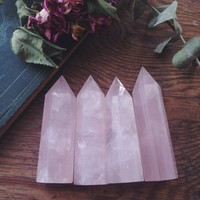 standing rose quartz points from The Opaque