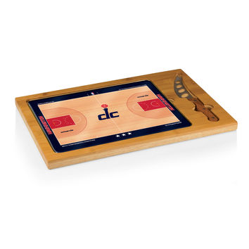 Washington Wizards - 'Icon' Glass Top Serving Tray & Knife Set by Picnic Time (Basketball Design)