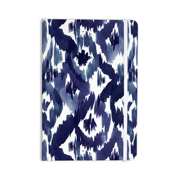 "Crystal Walen ""Indigo Ikat"" - Blue Diamond Everything Notebook"