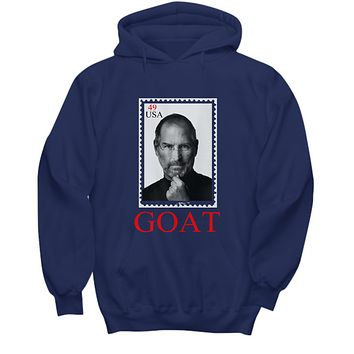 Goat Greatest Of All Time Steve Jobs Cool Stamp Hoodie