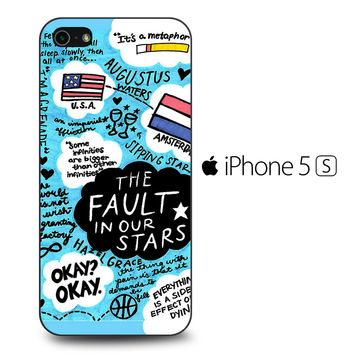 TFIOS Quotes Collage iPhone 5S Case