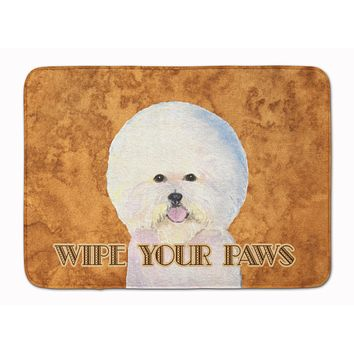 Bichon Frise Wipe your Paws Machine Washable Memory Foam Mat SS4878RUG