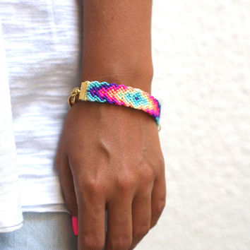 Chunky Chain Friendship Bracelet by makunaima on Etsy