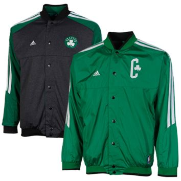 adidas Boston Celtics Youth On-Court Reversible Warm-up Jacket - Kelly Green/Charcoal - http://www.shareasale.com/m-pr.cfm?merchantID=7124&userID=1042934&productID=520949063 / Boston Celtics