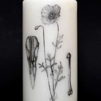 Element Candle - Pillar Candle - Witchcraft - Nature - Flower