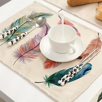 4Pcs Kitchen Table Mats Insulation Bowl Placemats Dining Table Place Mats Pad