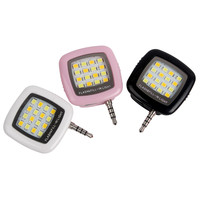 Cell Phone Camera Fill Light Mini 3.5mm Smartphone Portable 16 Leds LED Flash Fill Light For iPhone IOS Android #KF