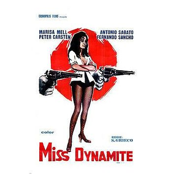 MISS DYNAMITE MOVIE POSTER marisa mell guns sexy MOD 24X36