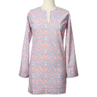Lark Tunic, Blue/Raspberry, Pajamas