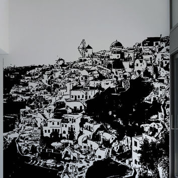 Vinyl Wall Decal Sticker Greece Village #1568
