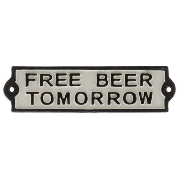 Free Beer Cast Iron Sign