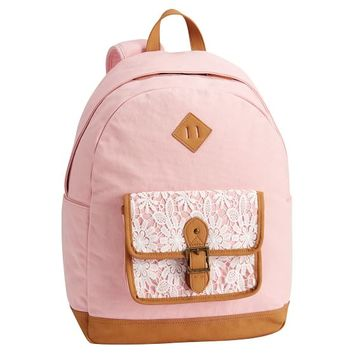 Northfield Soft Rose Lacey Backpack
