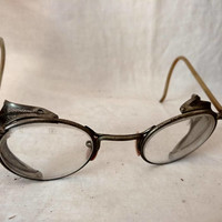 On Sale Safety Glasses Goggles 1940s antique STEAMPUNK  / vintage goth rave anime gear