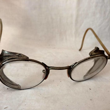 49f891b8eb3 On Sale Safety Glasses Goggles 1940s antique STEAMPUNK   vintage goth rave  anime gear