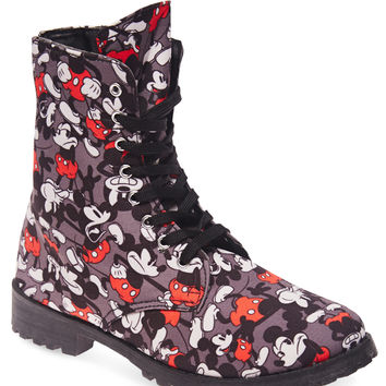 Mickey Mouse™ Combat Boots | Wet Seal