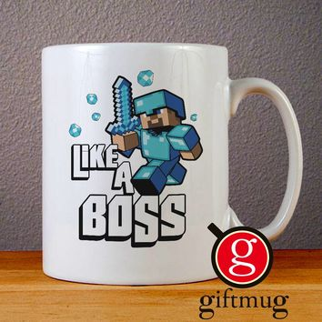 Minecraft Like a Boss Ceramic Coffee Mugs