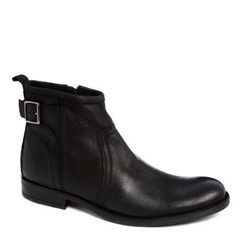 Base London Leather Buckle Boots -
