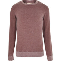 River Island MensRed spacedye washed out sweatshirt