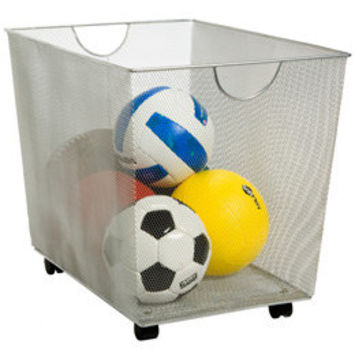 The Container Store > Silver Mesh Rolling Bin