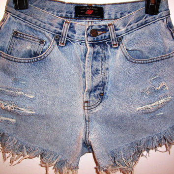 Pyramid Studded High Waisted Denim Shorts by BohoJane on Etsy