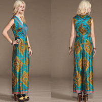 Vintage Stunning 60s 70s INDIA JUMPSUIT Rare // by StoreyThreads