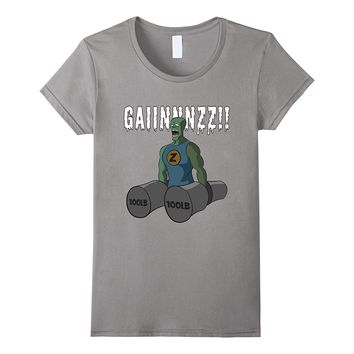 Mad Gainz Zombie: Cool Muscle Training Gym Workout T-Shirt