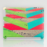 Chevron iPad Case - bright colors abstract street art painted concrete road miami mini apple tablet accessories personalize