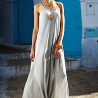 Pinstriped Maxi Dress by
