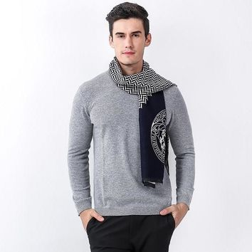 Men's New Autumn and Winter Fashion Scarves Men and Women Warm Wool Scarves Cashmere Scarf