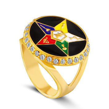 Masonic jewelry order of eastern star ring