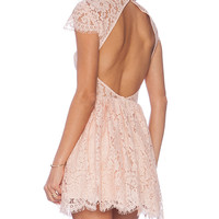 keepsake Eclipse Dress in Blush