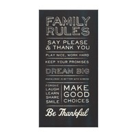 NEW FAMILY RULES! CANVAS PRINTS from Zazzle.com