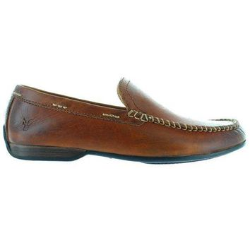 Frye Boot Lewis Venetian   Brown Leather Moccasin Loafer