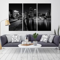 97167 - Boston City Decorative Wall Art Canvas Print