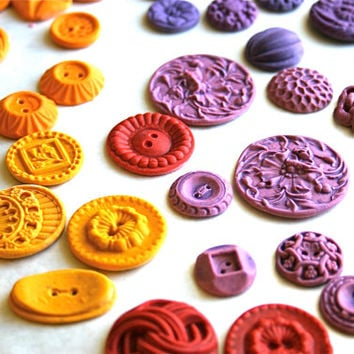 Candy Vintage Buttons -50 Chromatic Spice, By Andie's Specialty Sweets