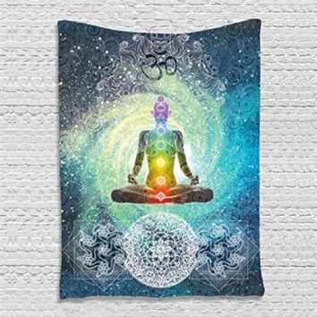 Polyester Indian Mandala Wall Hanging Tapestry Bohemian Bedspread Throw Blanket Dorm Yoga Mat Beach Towel Home Room Wall Decor