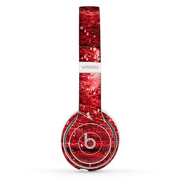 The Red Grunge Paint Splatter Skin Set for the Beats by Dre Solo 2 Wireless Headphones