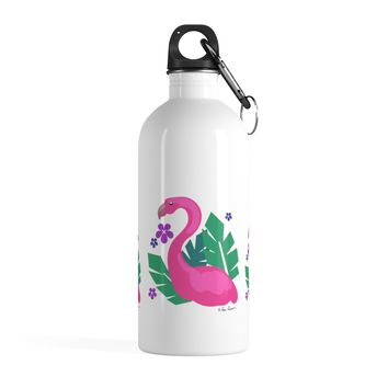Flamingo Water Bottle: 14 oz Stainless Steel by PonsART $39.95