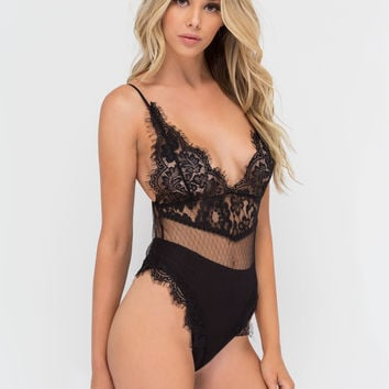 Delicate Situation Sheer Lace Bodysuit